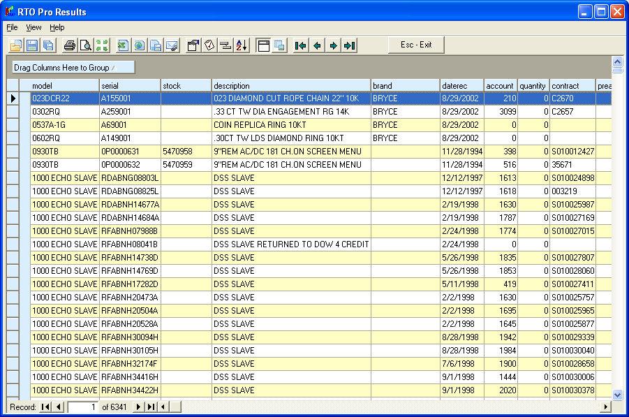 rto pro help file inventory custom report viewer